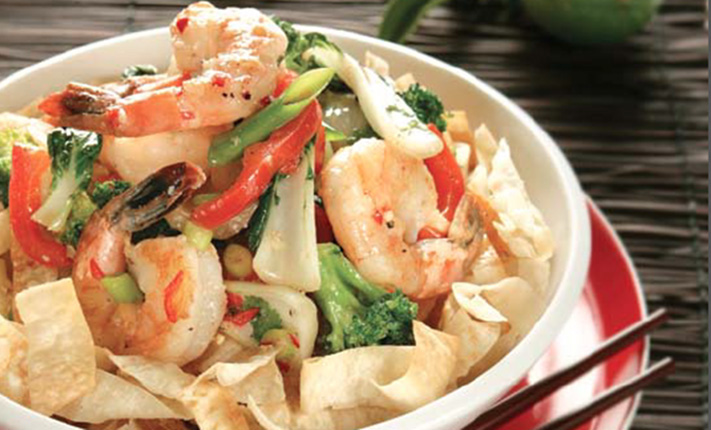 Hot-And-Sour-Prawns-With-Crispy-Noodles