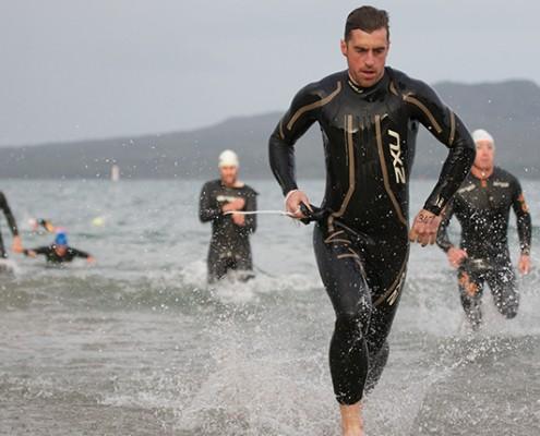 Triathlete-Liam-Friary-at-Orca-Swim-Run-Series-Oct, 2012