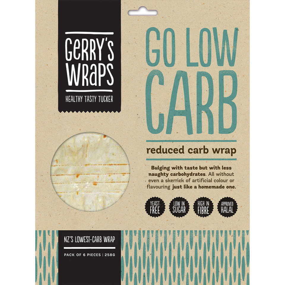 Go Low Carb Wraps Lowest Carbs In Nz Gerry S Wraps