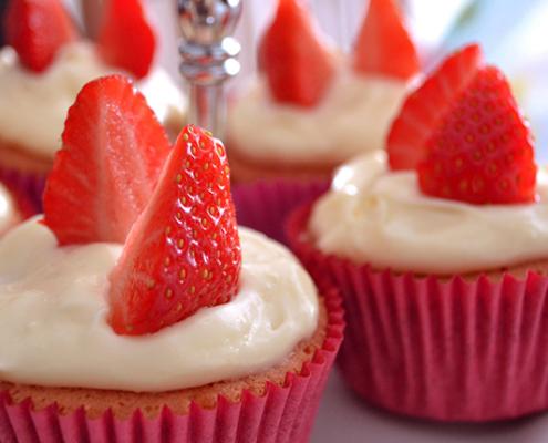 gluten free strawberry cupcakes
