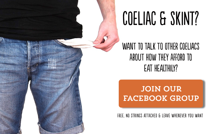 man-showing-empty-pockets-with-text-inviting-low-income-coeliacs-to-join-facebook-group